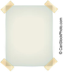 parete, nota appiccicosa, appiccicato, nastro, carte