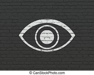 parete, occhio, concept:, fondo, intimità