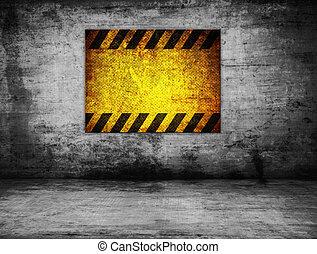 parete, pericolo, vecchio, segno