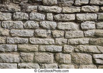 parete, pietra, antico, -, fondo