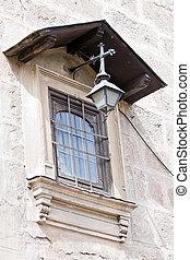 parete, pietra, finestra, vecchio