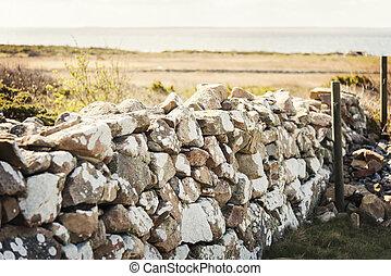parete, pietra, naturale