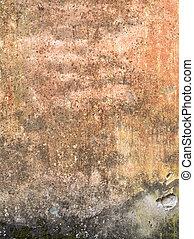 parete, pietra, ruggine, struttura