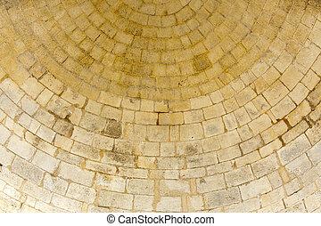parete, pietra, vecchio, rotondo