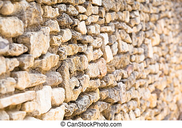 parete, pietre, campo