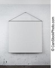 parete, proiettore, vuoto