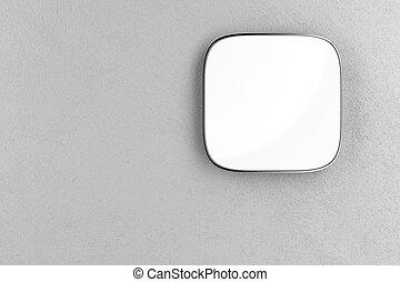 parete, quadrato, cartello