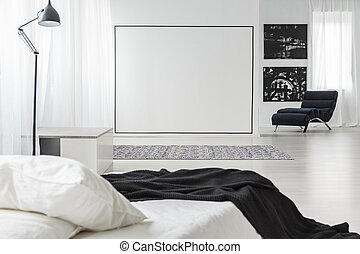 parete, quadrato, nero