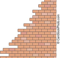parete, rotto, fondo
