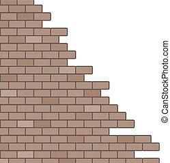 parete, rotto, illustrazione