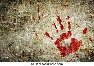 parete, sanguinante