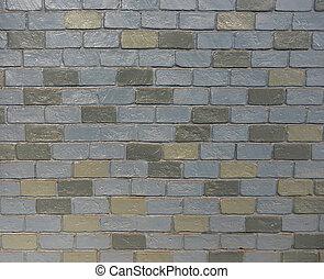 parete, seamless, modello, grigio, struttura, mattone