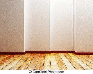 parete, stanza, vuoto, creativo