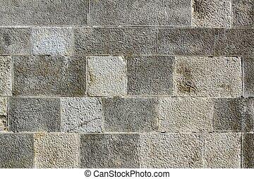 parete, struttura pietra, fondo, muratura