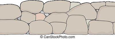 parete, taglio, pietra, corto, fuori