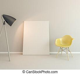 parete, tela, bianco, vuoto