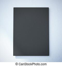 parete, tela, nero, bianco, vuoto