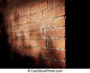 parete, uggia, mattone