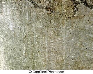 parete, vecchio, cemento, fondo