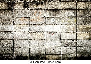 parete, vecchio, grunge, fondo