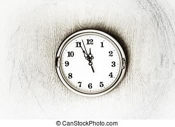 parete, vendemmia, fondo, struttura, orologio