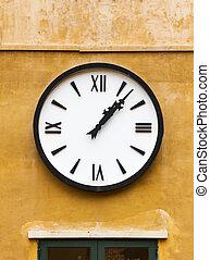 parete, vendemmia, orologio
