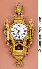 parete, vendemmia, stanza, orologio