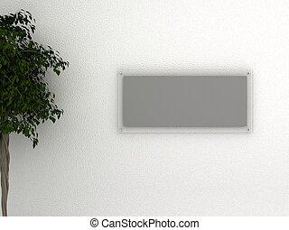 parete, vetro, cornice