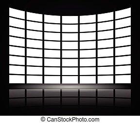 parete, video, distorsione