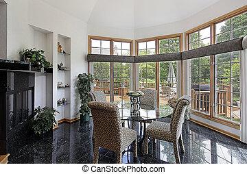 parete, windows, stanza colazione