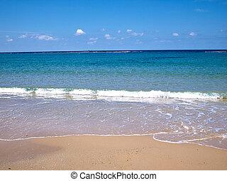 parfait, été, vacances plage