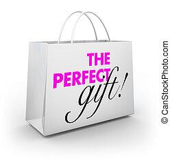 parfait, achat, achats, cadeau, illustration, sac, présent, magasin, 3d