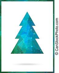 parfait, announcement., arbre, noël, vecteur, invitation, ou, carte, design.