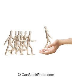 parfait, concept, ressource, choisir, candidat, main, humain, job.
