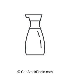 parfait, contour, liquide, -, symbole, editable, japonaise, pixel, cuisine., bouteille, chinois, condiment, ou, icône