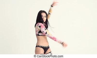 parfait, corps, sexy, danse femme