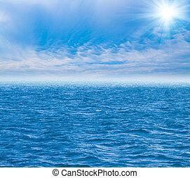 parfait, eau, ciel, océan