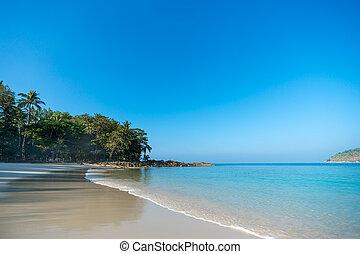 parfait, exotique, île, paradis