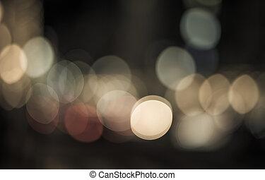 parfait, fête, résumé, lights., arrière-plan., bokeh