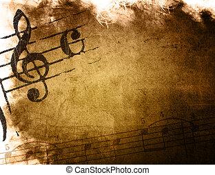 parfait, grunge, espace, -, image, arrière-plans, musique, ...