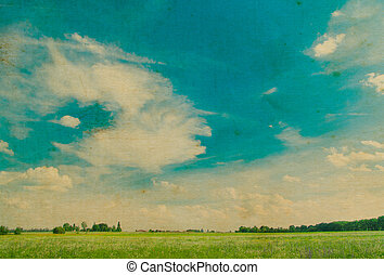 parfait, herbe champ, ciel