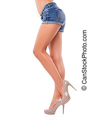 parfait, jambes, femme