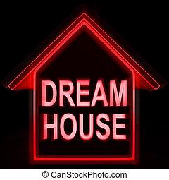 parfait, maisons, famille, moyens, maison, rêve