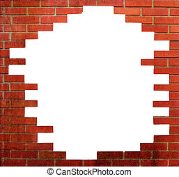 parfait, mur, brique, cadre