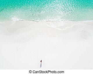 parfait, nager, australie, idyllique, a, plages