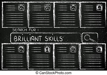 parfait, recherche, candidat, cv, base données