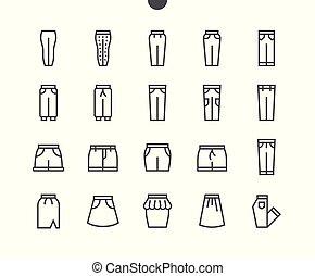 parfait, toile, vecteur, 48x48, pictogramme, 2-5, icônes simples, well-crafted, apps., ui, mince, graphiques, ligne grille, partie, pixel, minimal, vêtements
