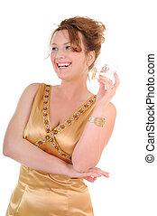 Parfume and beauty woman