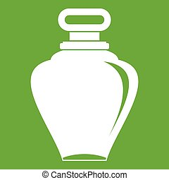 Parfume bottle icon green