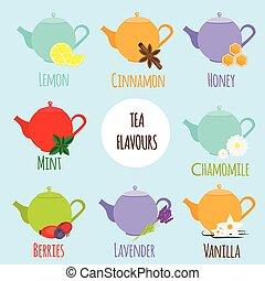 parfums, types, thé